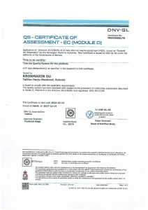 QS — CERTIFICATE OF ASSESSMENT — EC (MODULE D)